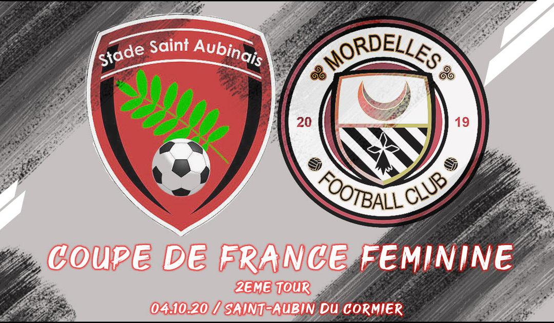 Coupe de France Féminine. Stade Saint-Aubinais au 2ème Tour