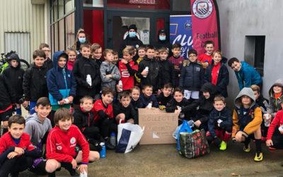 Les jeunes du FC Mordelles soutiennent les étudiants rennais
